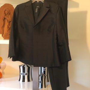 BCBG silk/wool black suit